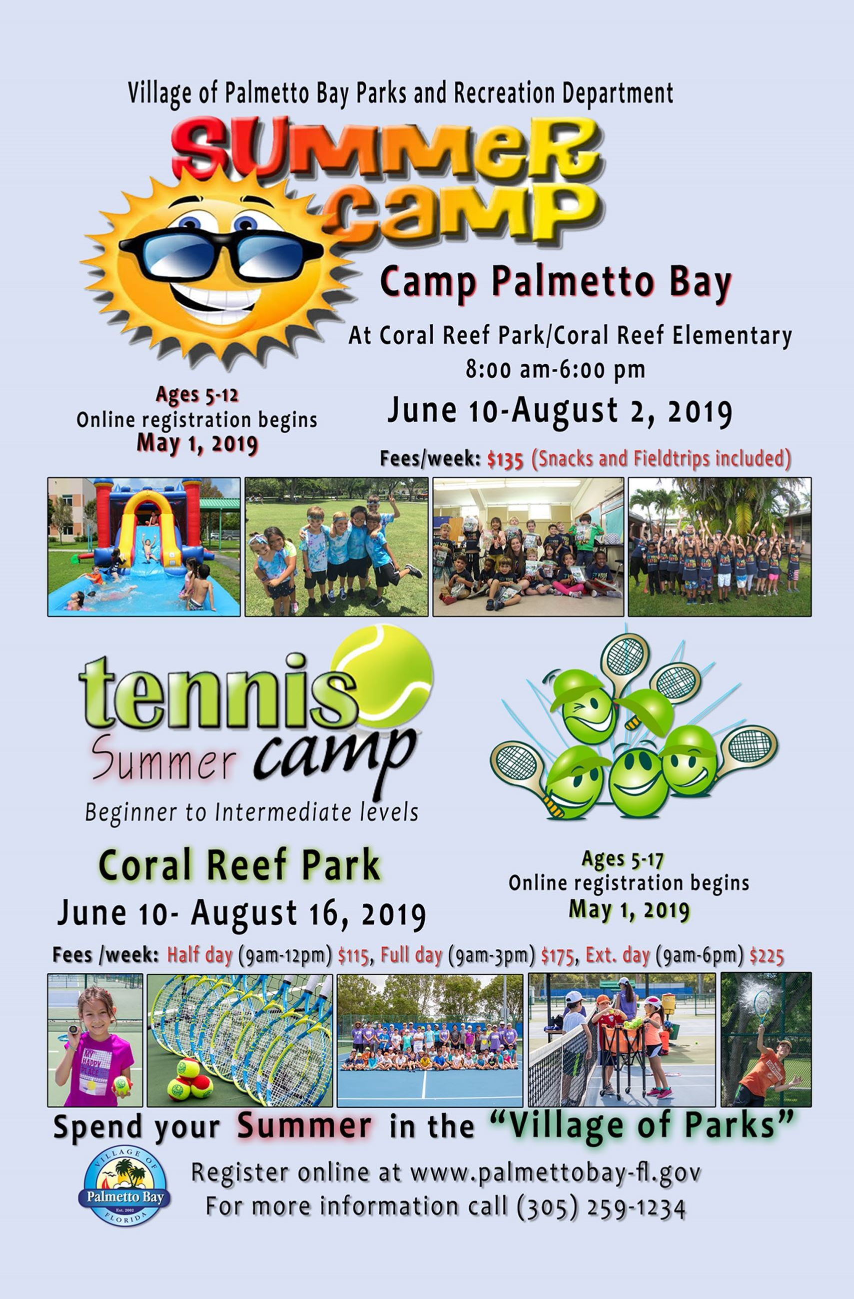 Summer Camp Palmetto Bay at Coral Reef Park/Coral Reef Elementary from June 10th - August 2nd from 8