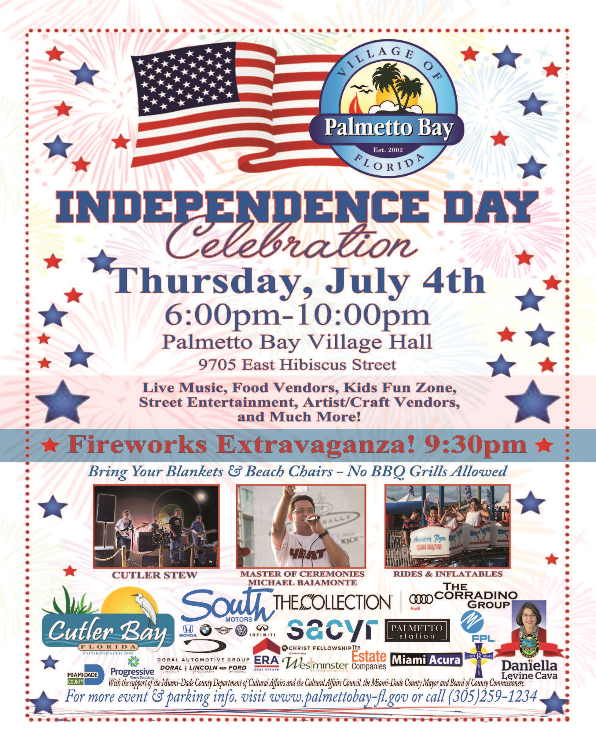 4th of July Extravaganza Event Flyer