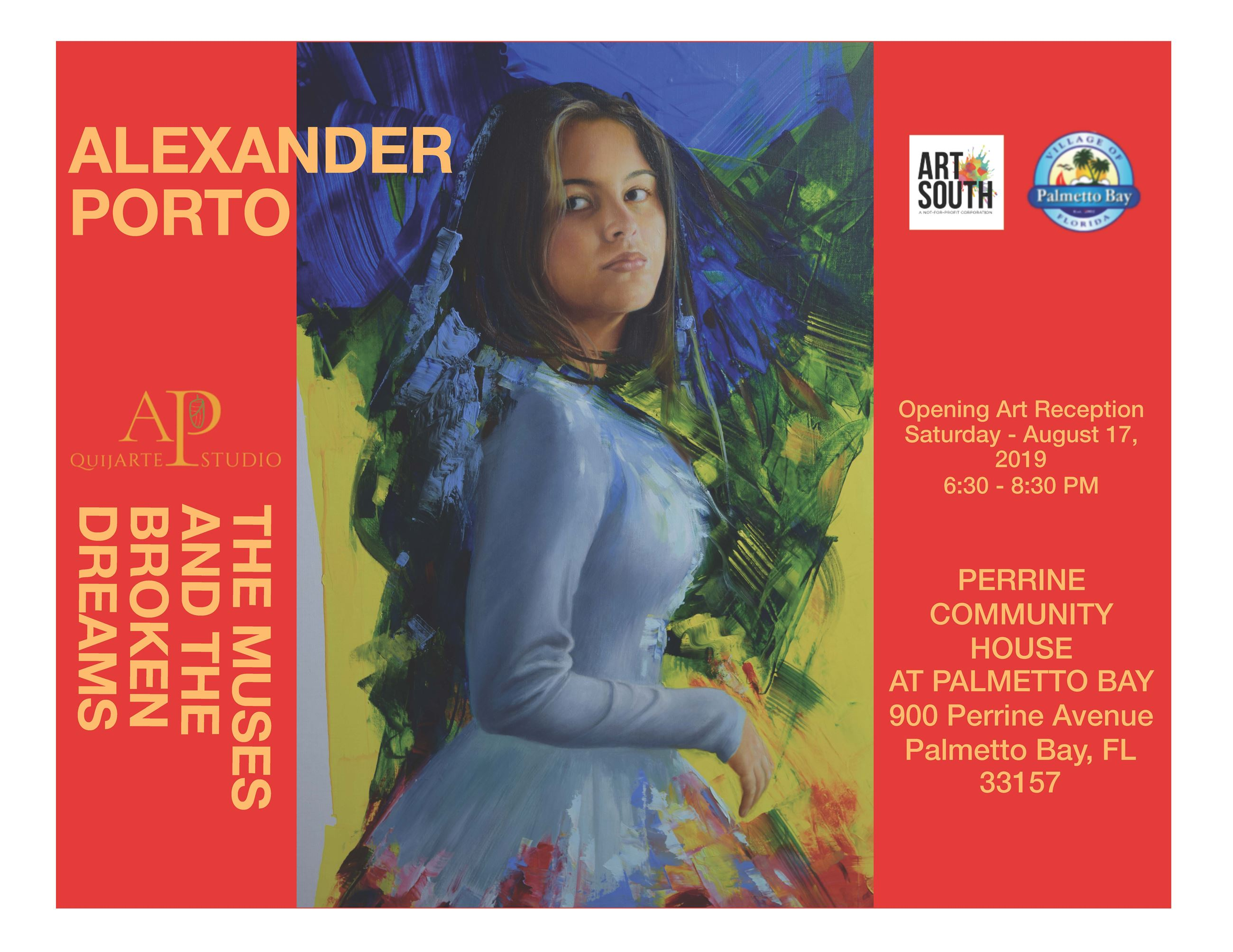 ArtSouth presents Alexander Porto's work on Saturday, August 17th from 6:30 PM - 8:30 PM at the P