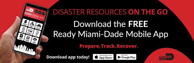 Disaster Resources on the go. Download the FREE Ready Miami-Dade Mobile App. Prepare. Track. Recover