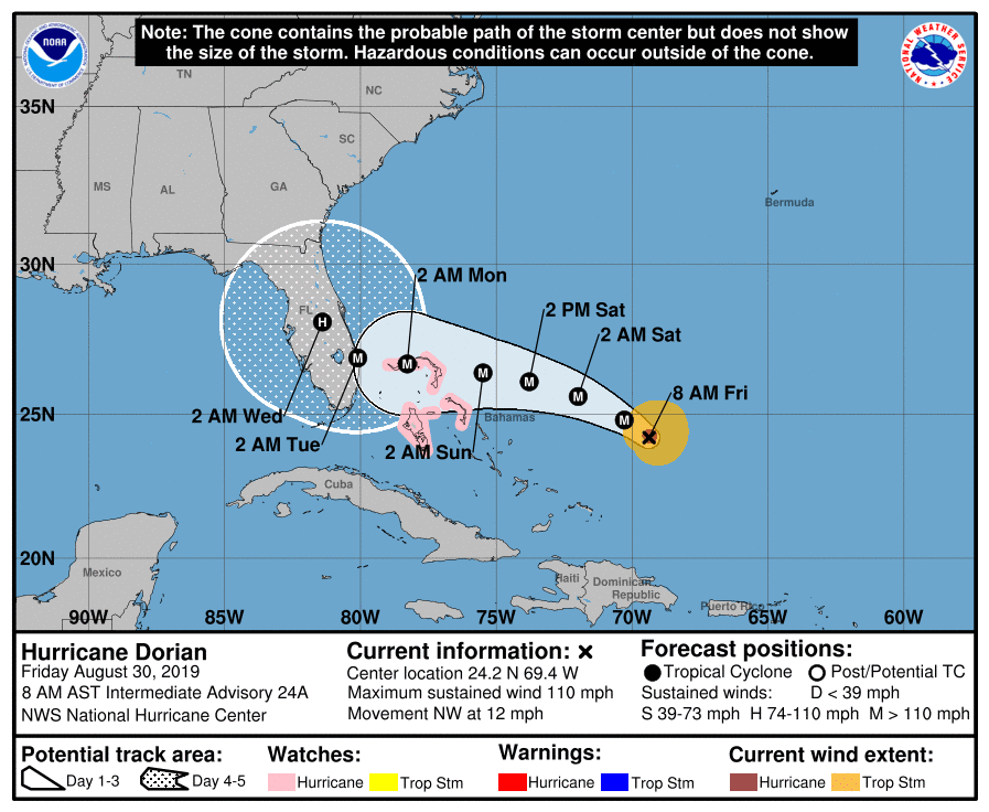 8 am advisory hurricane dorian