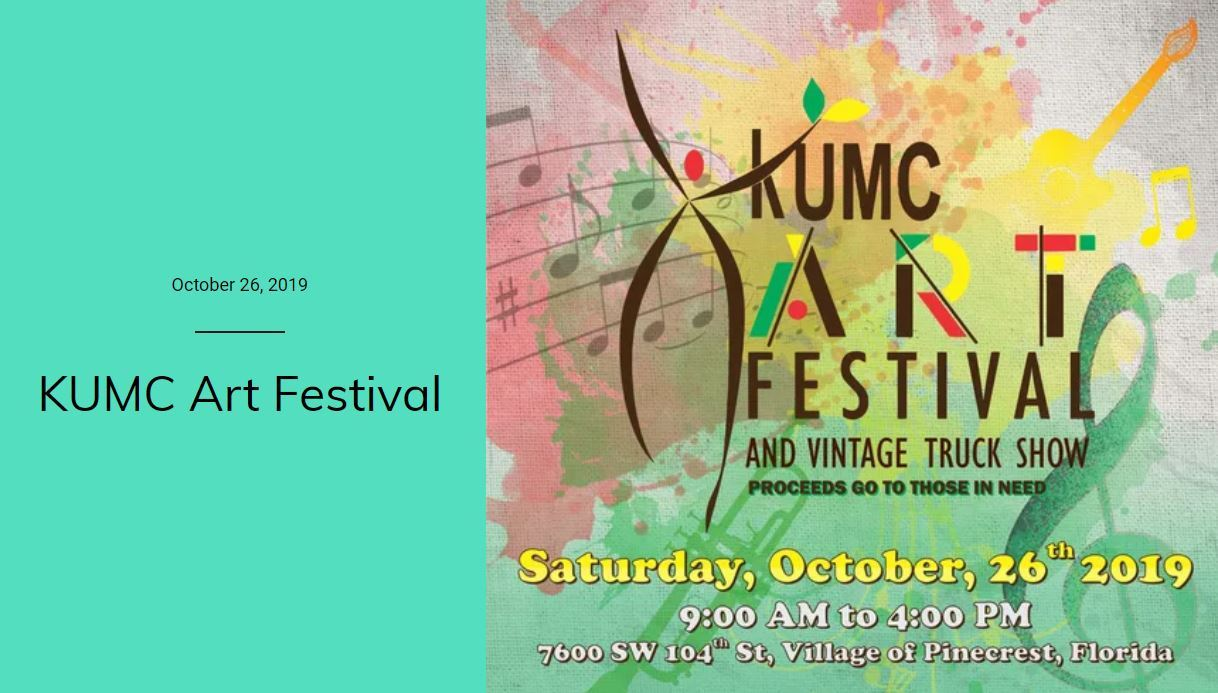 KUMC Art Festival and Vintage Truck Show proceeds go to those in need. Saturday, October 26th, 2019