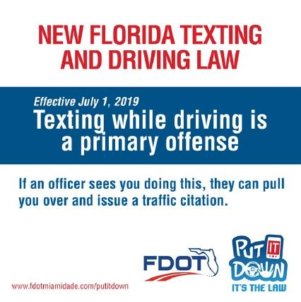 Do not text and drive. You can be pulled over by an officer and issued a ticket starting January 1,