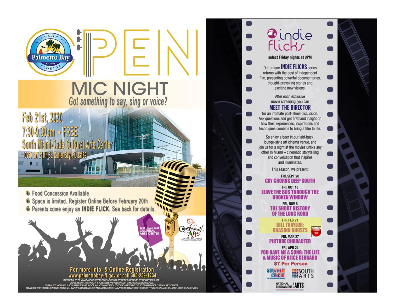 Open Mic Night: Got something to say, sing or voice? On Friday, February 21st from 7:30 - 9:30 p.m.