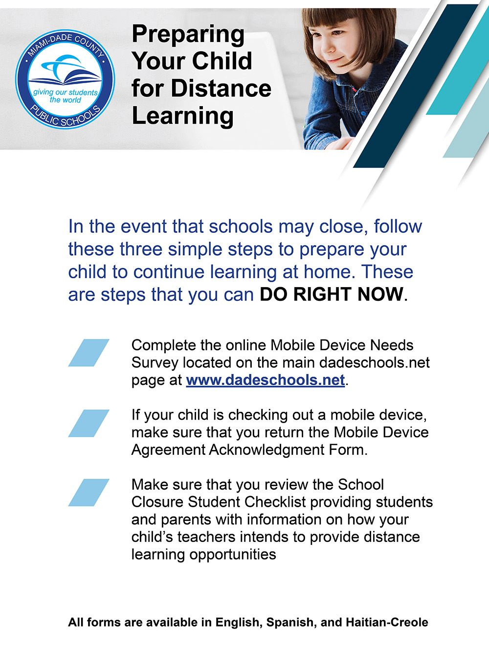 Miami-Dade County Schools Mobile Device Survey due today at www.dadeschools.net