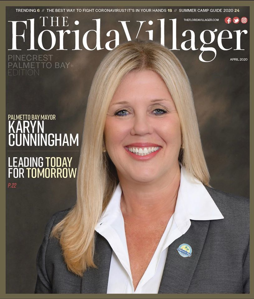 The April edition of the Florida Villager Magazine features a picture of Mayor Cunningham on the cov