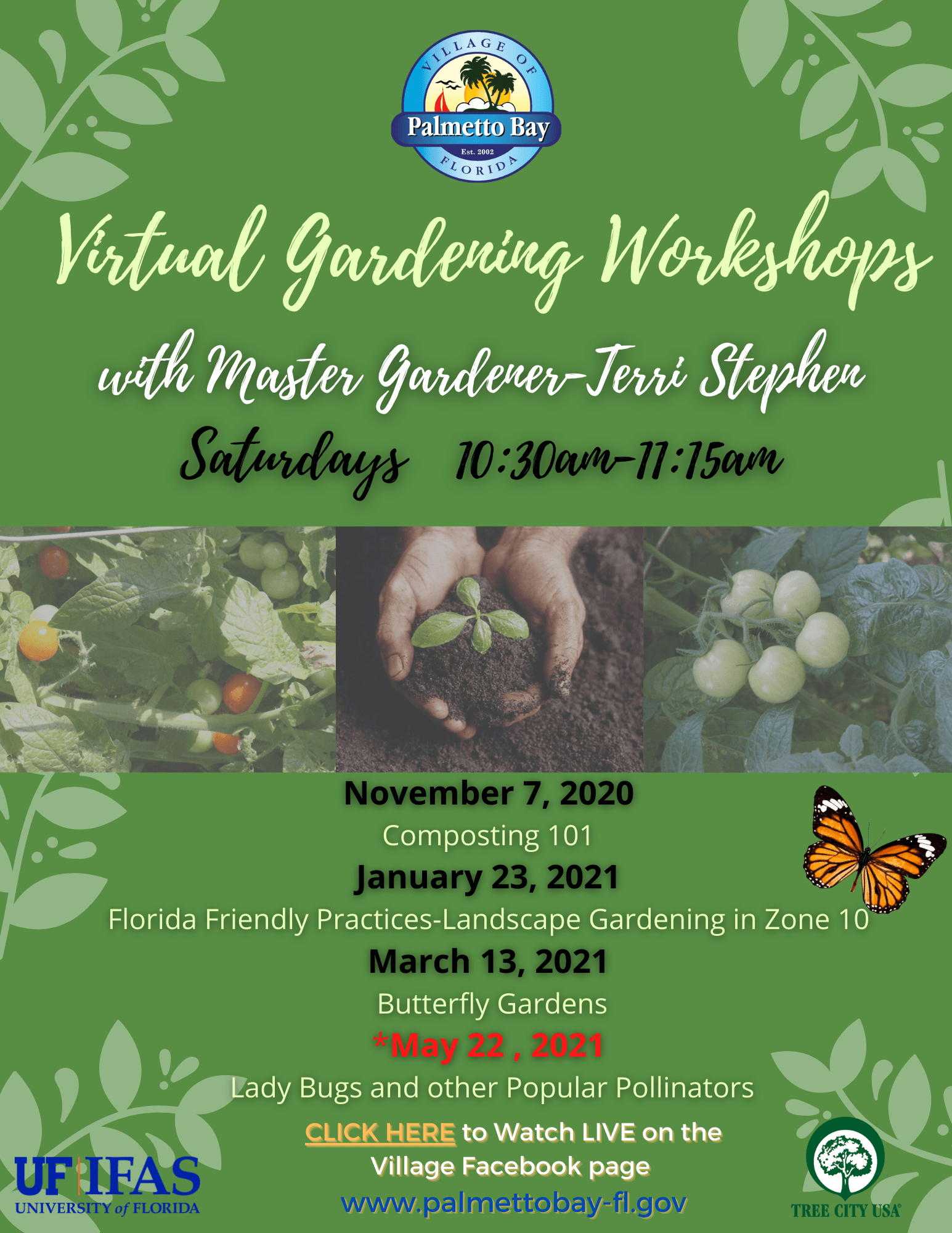 Virtual Gardening Workshops 2020-2021 Flyer