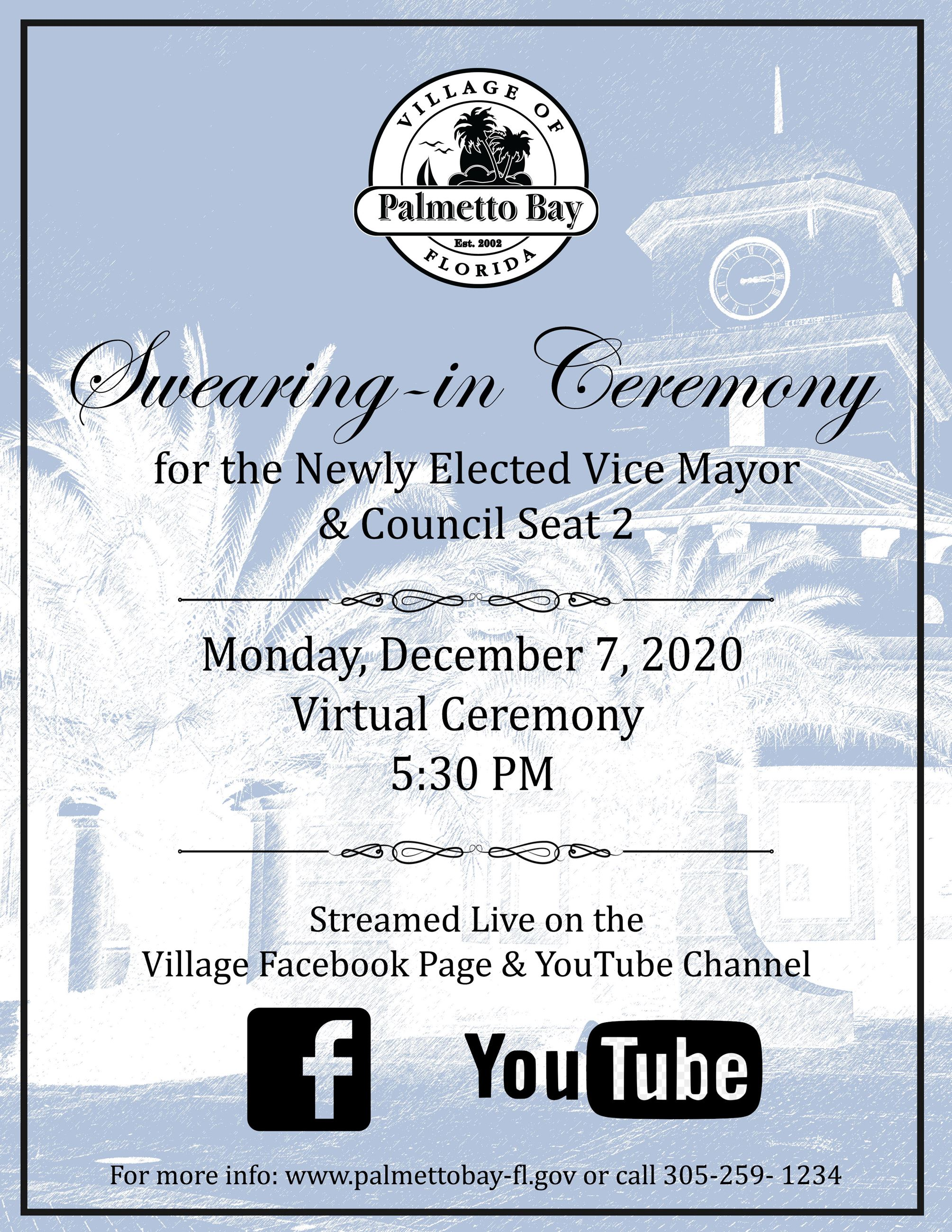 Swearing-in Ceremony-Virtual Flyer