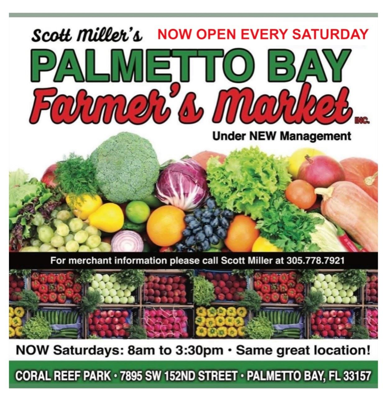 farmers market announcement flyer