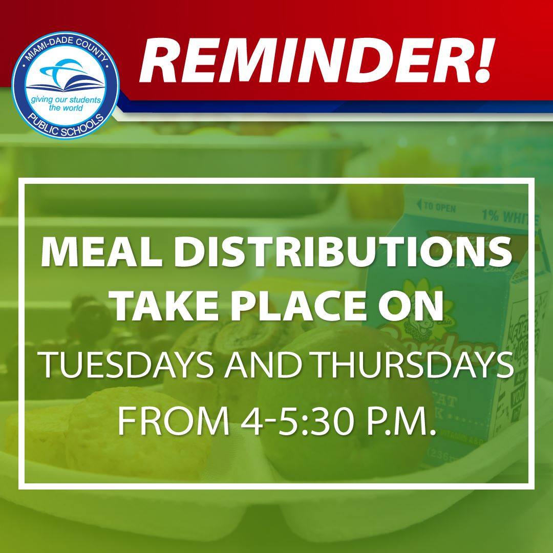 Meal Distribution at M-DCPS on Tuesdays and Thursdays