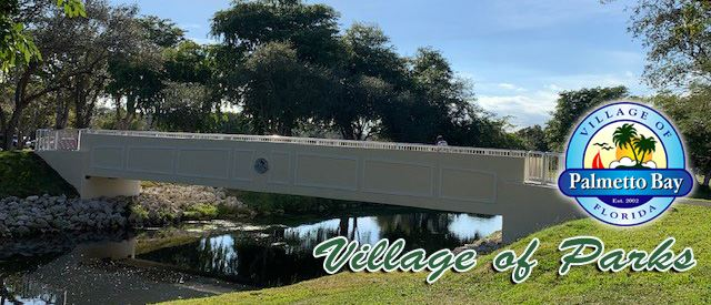 New Pedestrian Bridge at Coral Reef Park