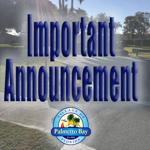 "Picture with the words ""important announcement"" and the logo"