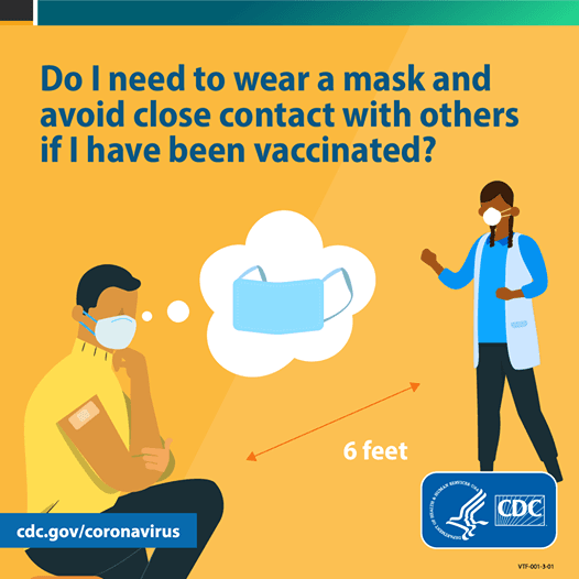 Are you vaccinated? Continue to wear masks