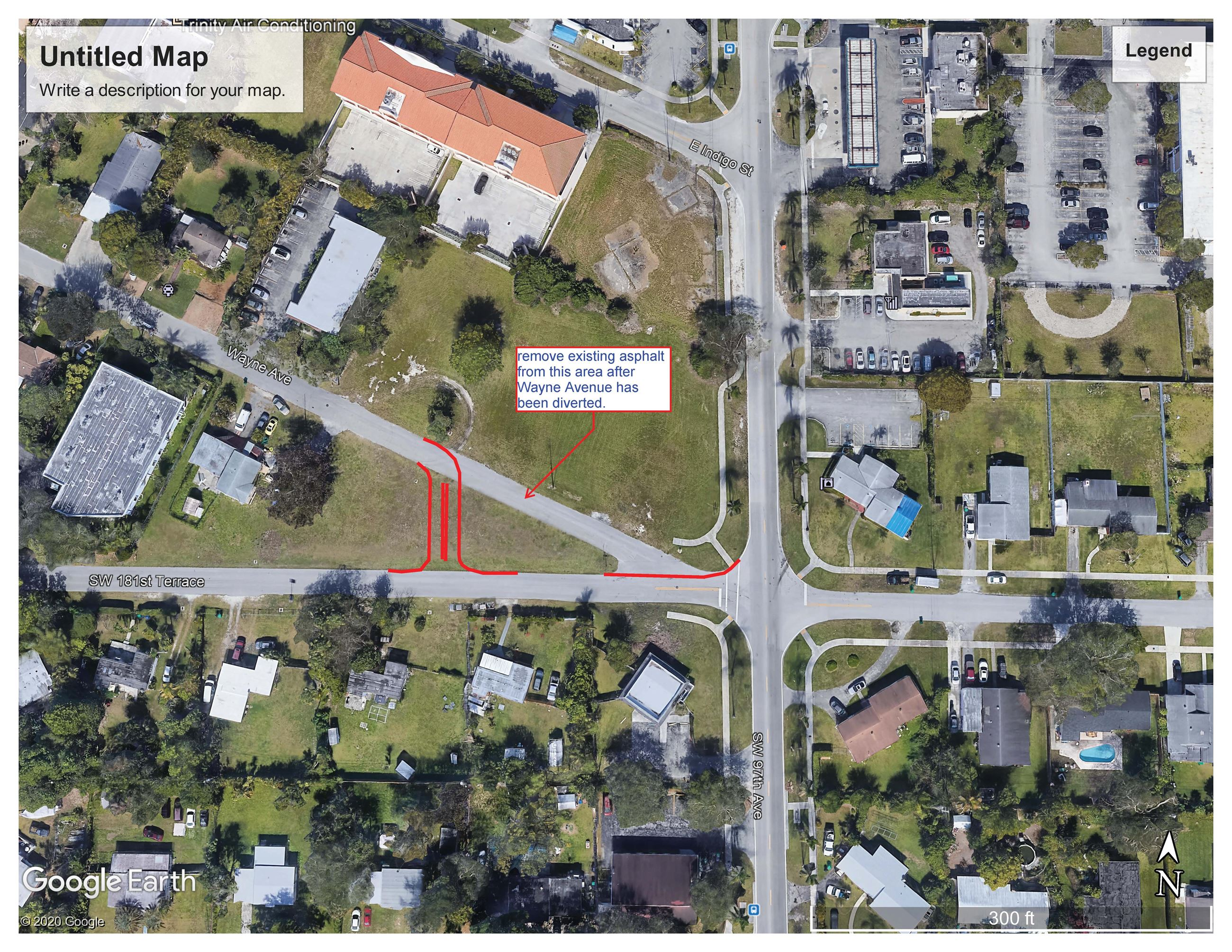 Realignment for West Leg of traffic Circle at Franjo