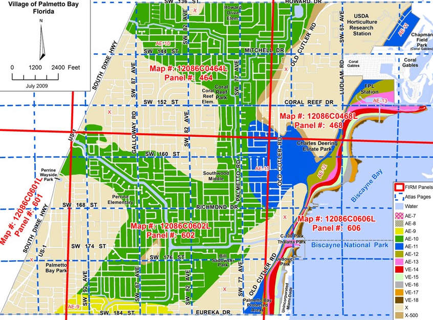 Flood Zone Designations Palmetto Bay FL - Florida flood plain map