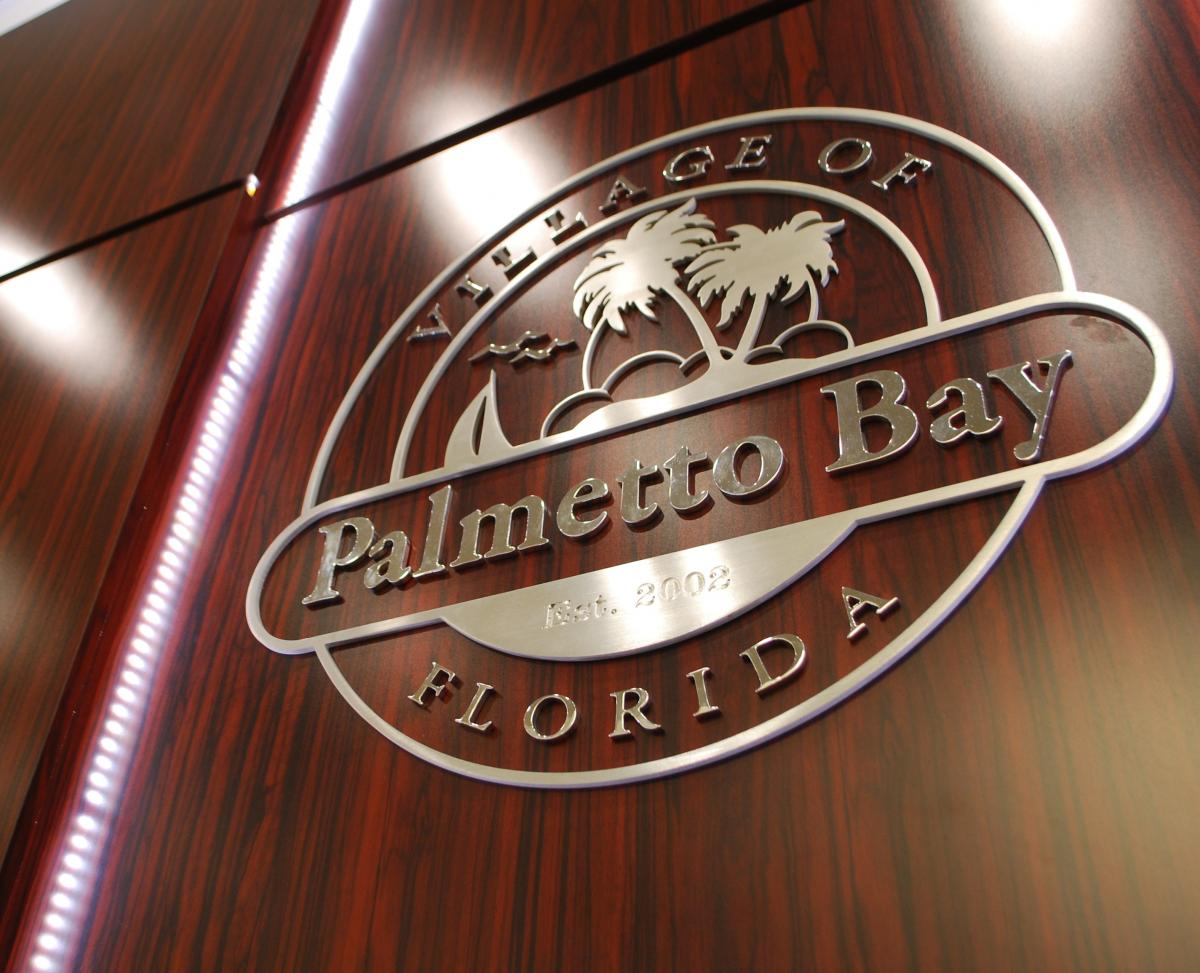 Village of Palmetto Bay Florida Sign