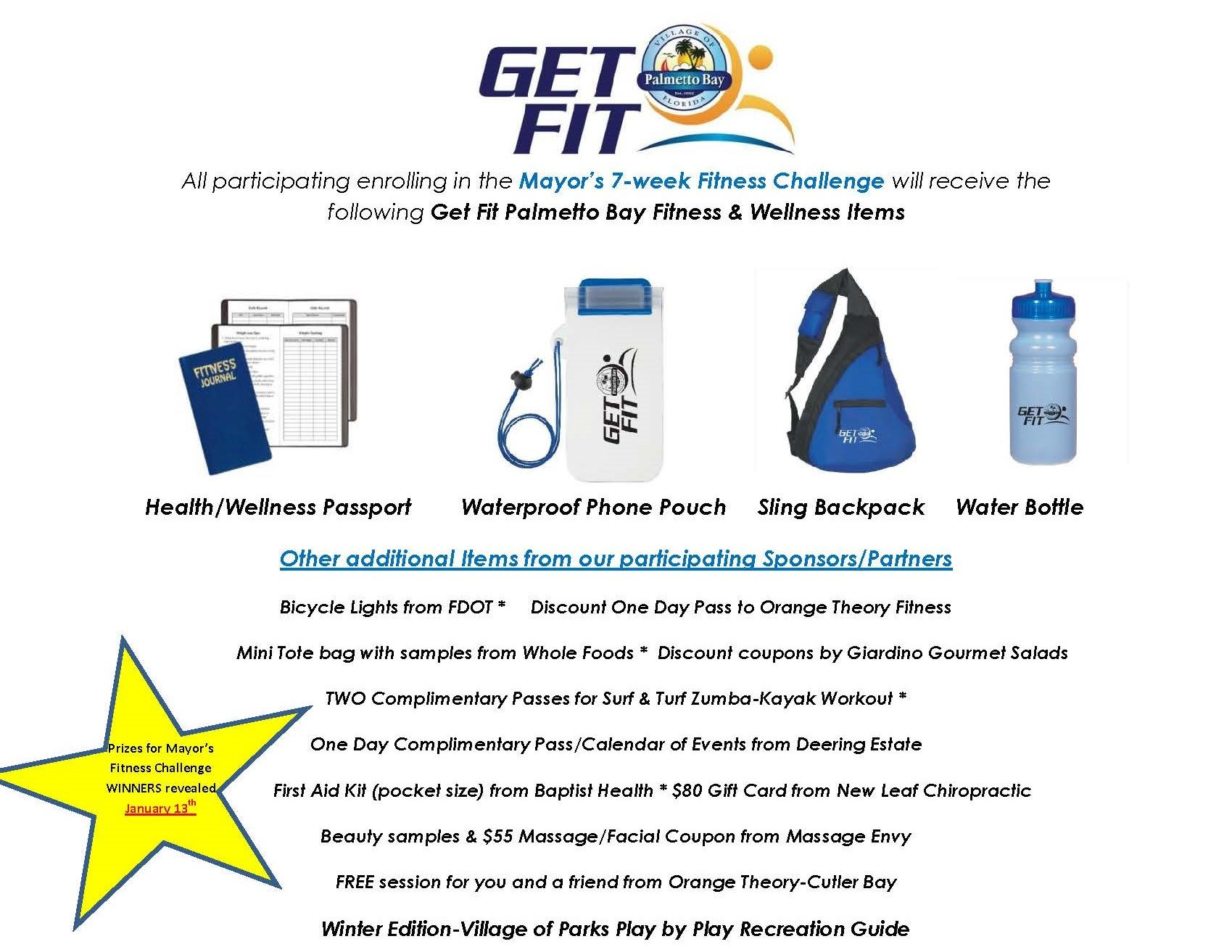 Get Fit Palmetto Bay-Goodie Bag Items 2017