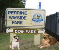 Perrine Wayside Sign With Dogs