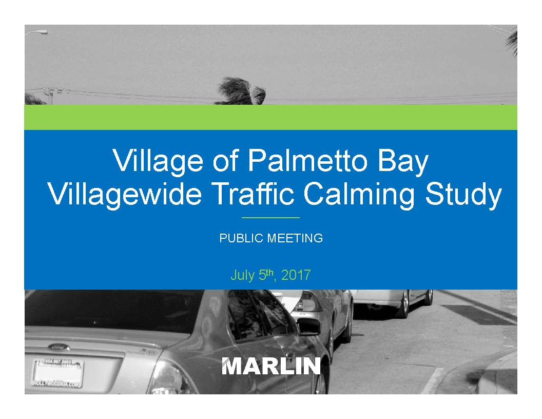 Traffic Calming Recommendations by Marlin Engineering-07-05-17