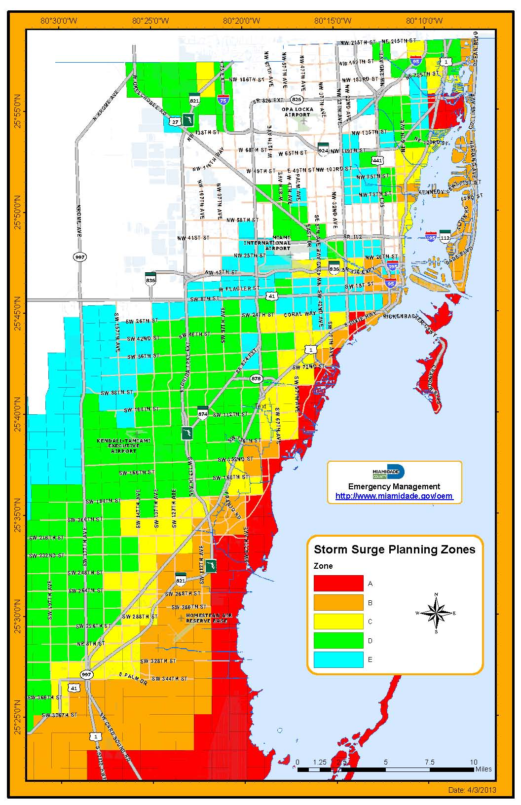 Evacuation Information Centers Palmetto Bay FL - Florida flood plain map