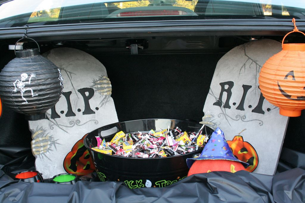 decorated trunk