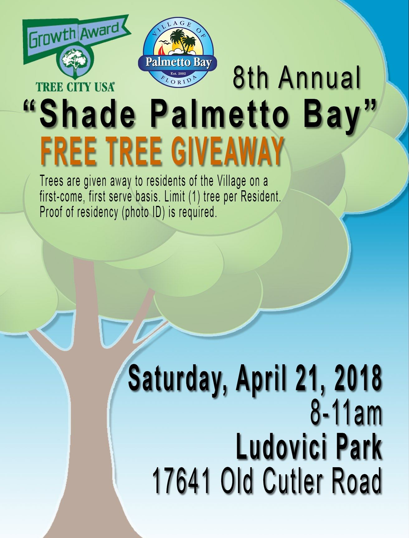 tree giveaway flyer