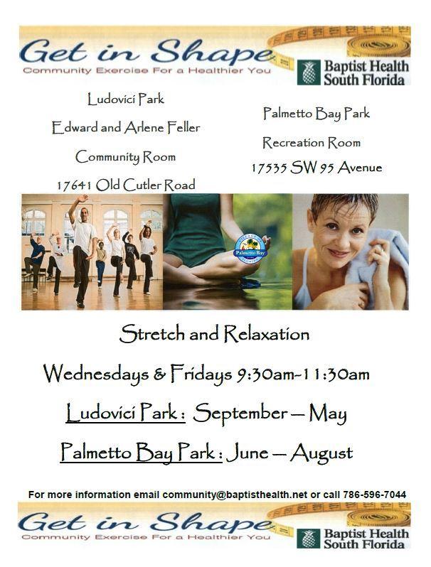 Baptist Health Community Classes Palmetto Bay Fl