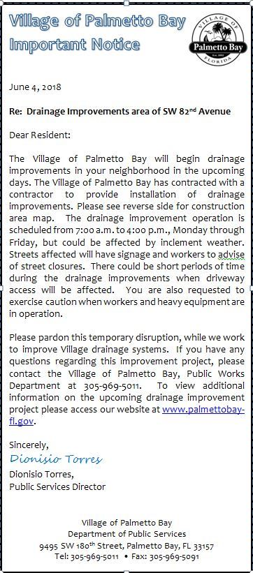 Drainage Improvements