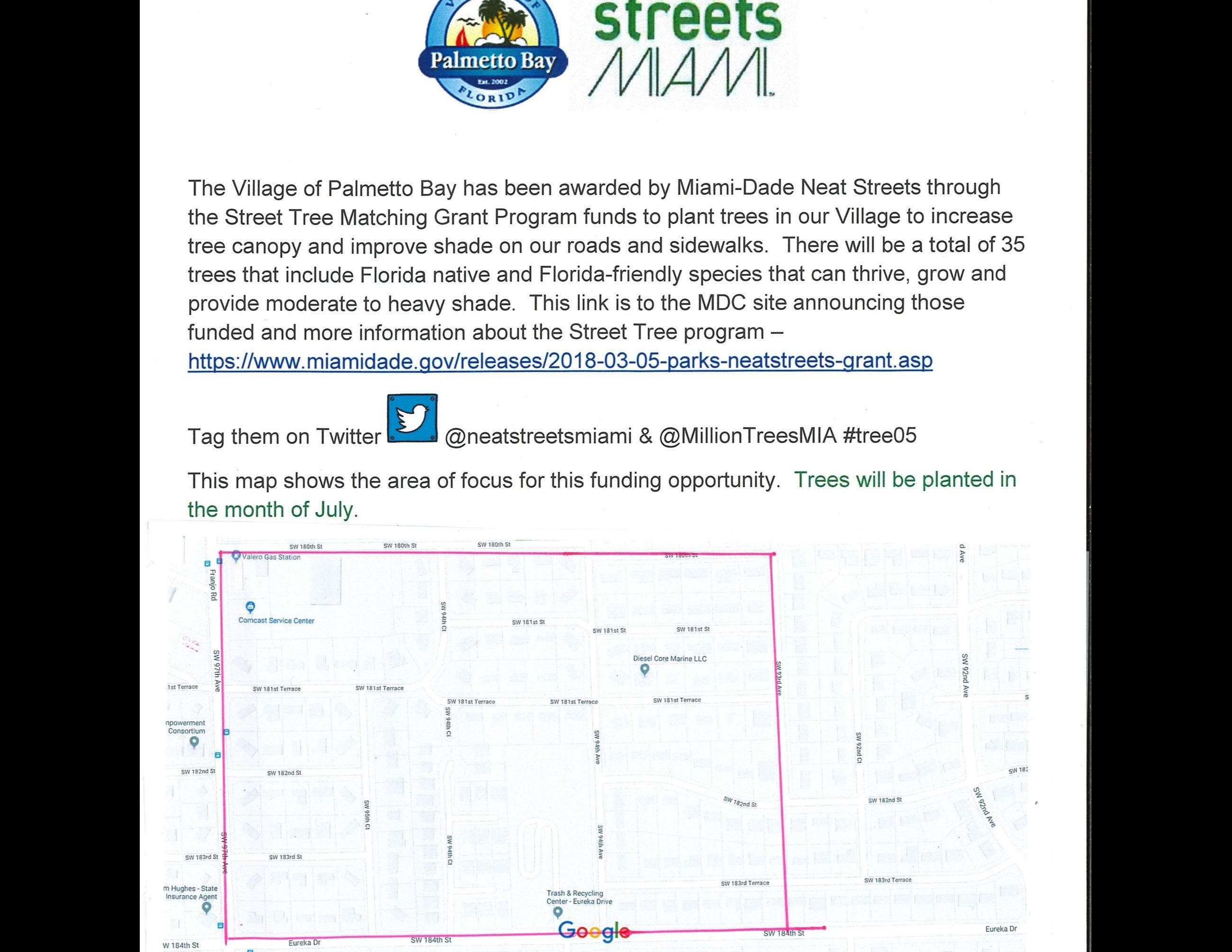 Public Notice Statement_2018 Street Tree