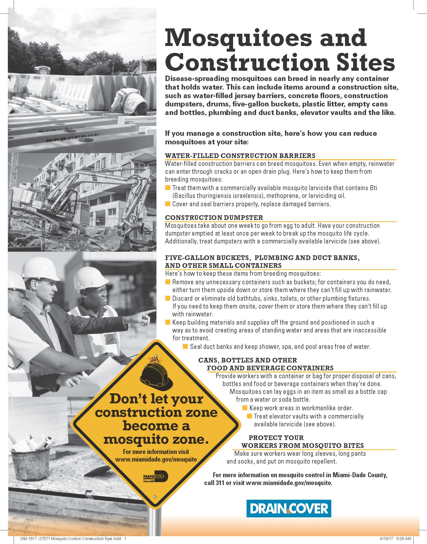 Mosquito Control Construction flyer