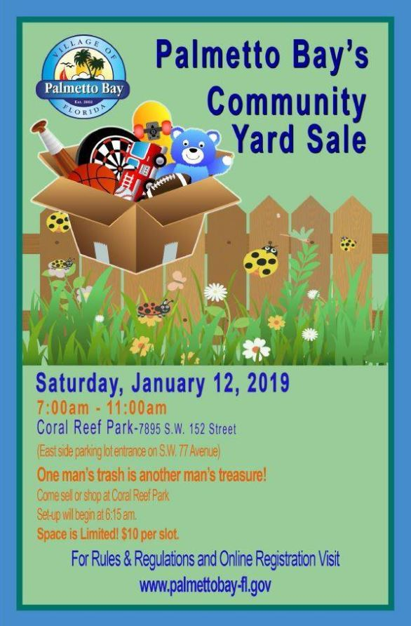 community yard sale january