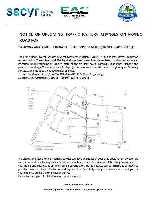 franjo road notice of MOT