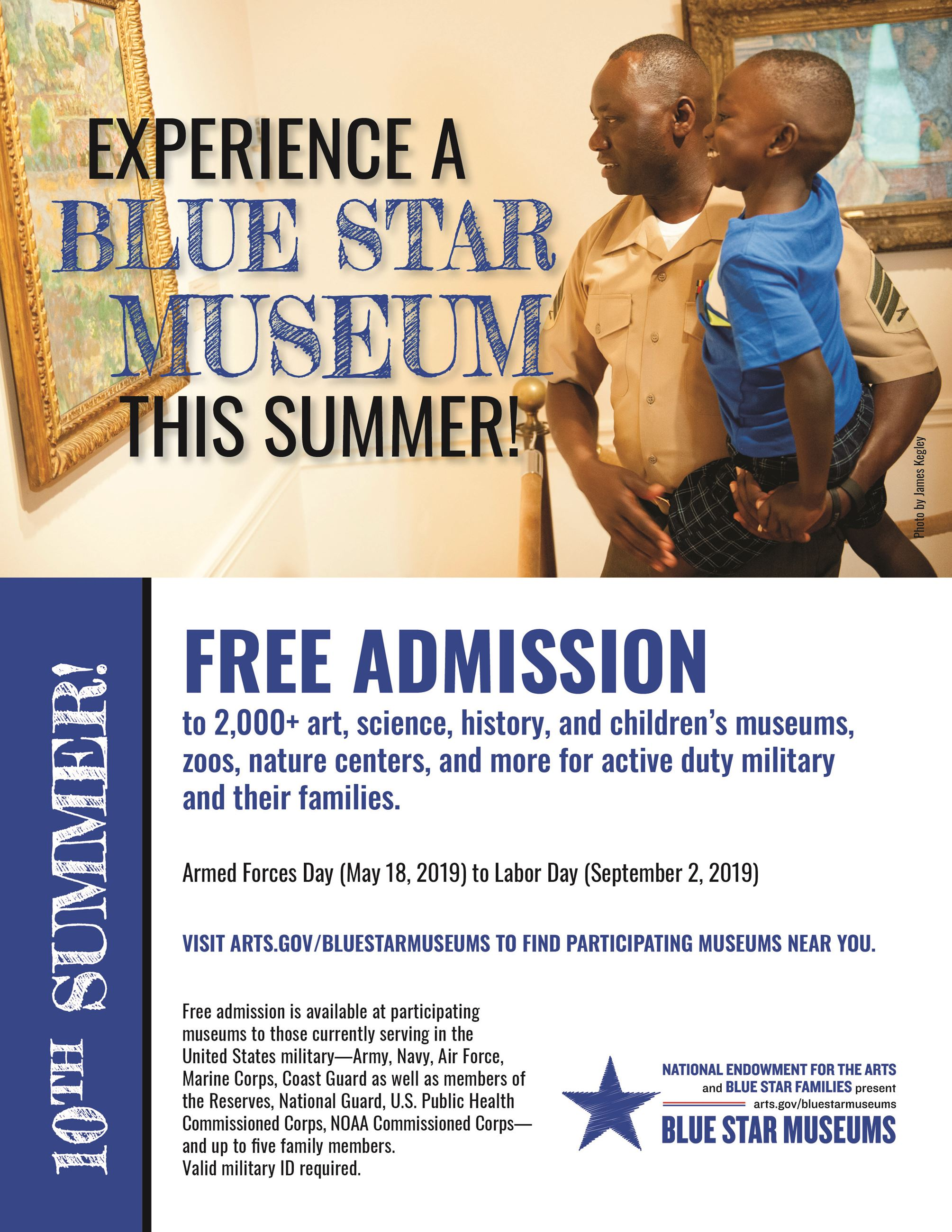 Experience a Blue Star Museum this Summer. Free Admission to 2,000+ art, science, history and childr Opens in new window