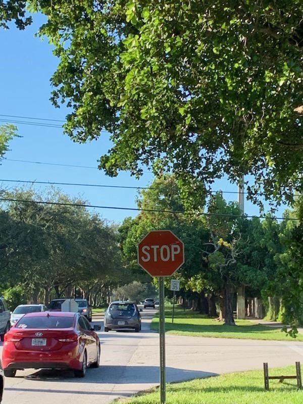 New Stop Sign at Intersection of SW 174 Street and 87th Avenue