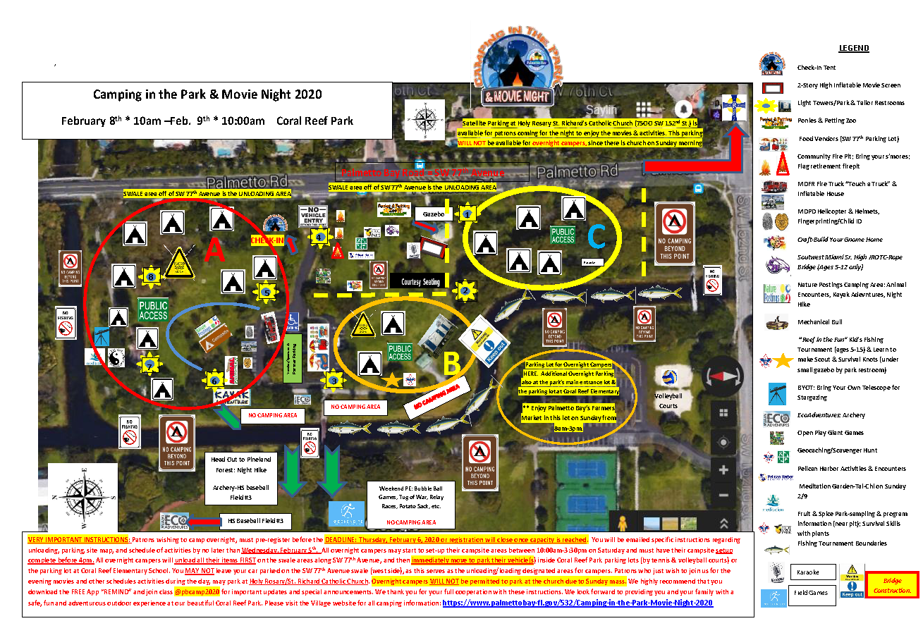 Camping in the Park Movie Night 2020 Site Map FINAL Opens in new window