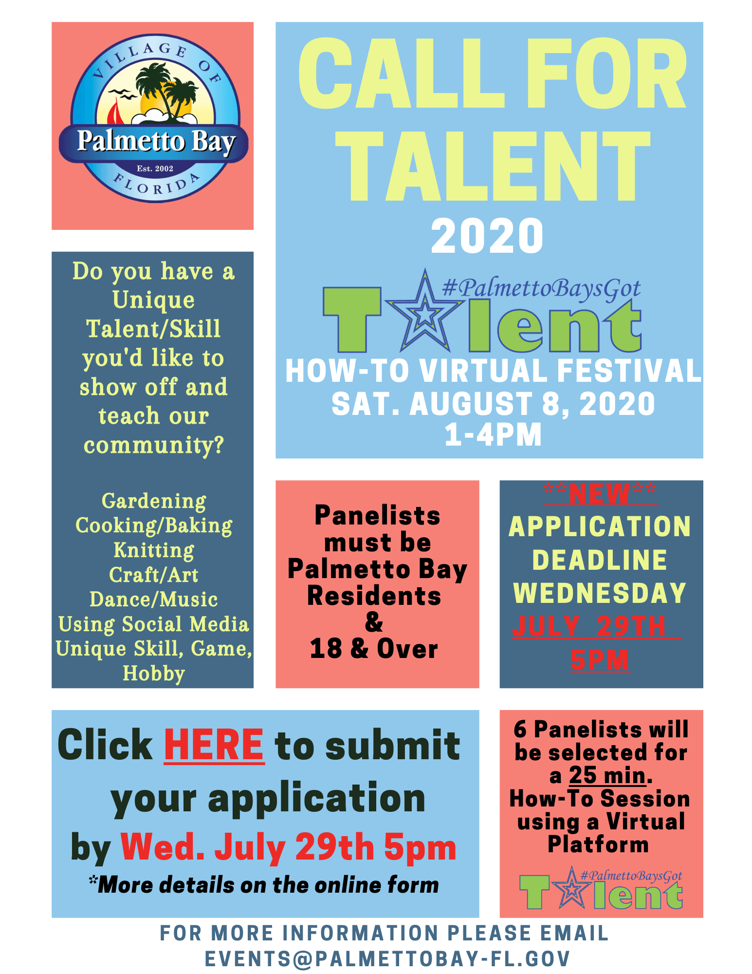 How-To  Festival 2020-CALL FOR TALENT-Extended Deadline