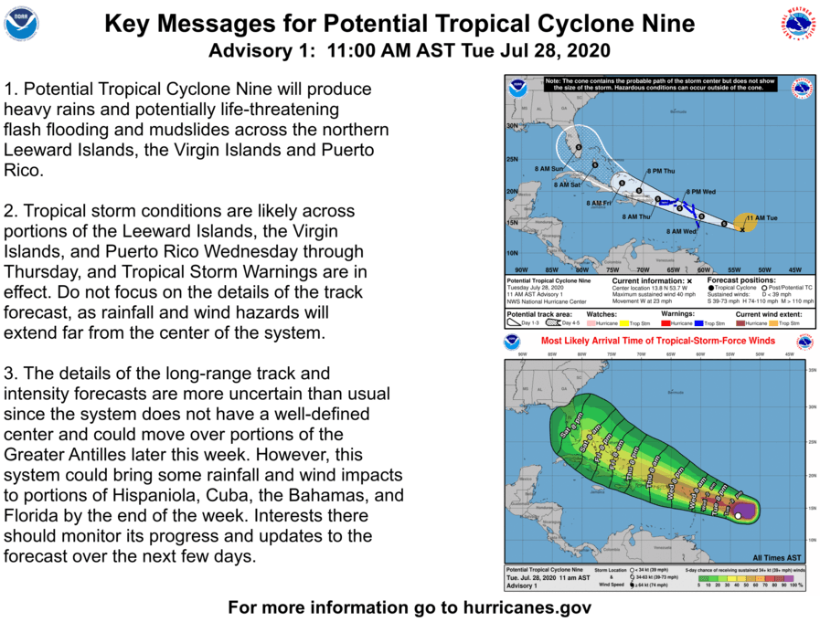 Key Messages for Potential Tropical Cyclone Nine