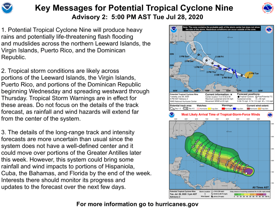 5 pm key messages from NOAA