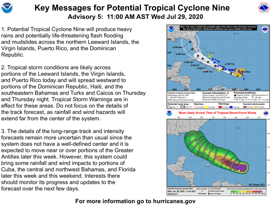 Potential Tropical Cyclone Nine 11 am Advisory