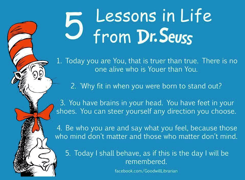 Dr. Seuss 5 Lessons In Life