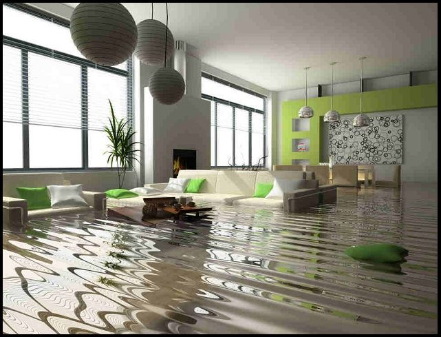 Flooded Home Interior