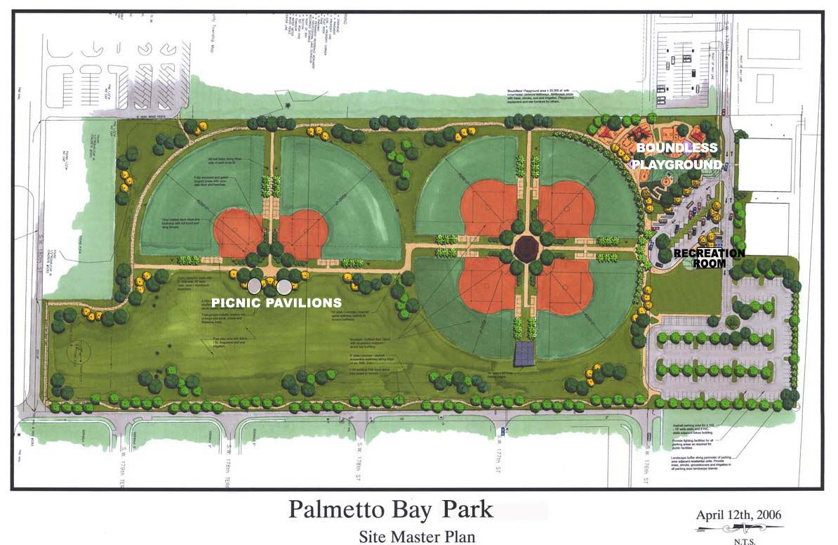 Palmetto Bay Park Site Plan